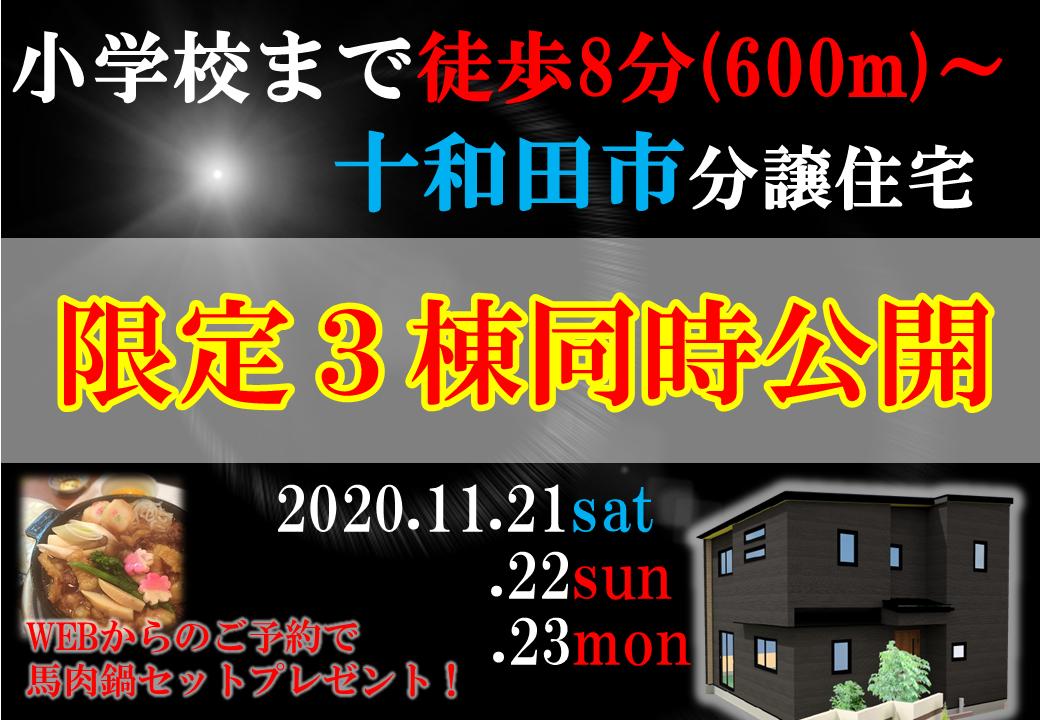 【限定3棟同時公開】十和田市分譲住宅